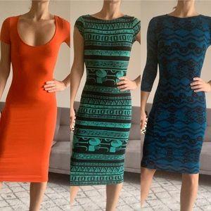 ASOS midi bodycon dress BUNDLE x3